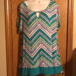 Avenue size 18/20 Multicolor print shirt